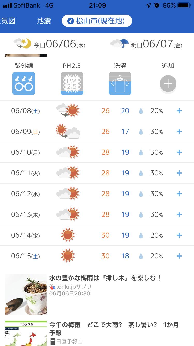 予報 松山 天気